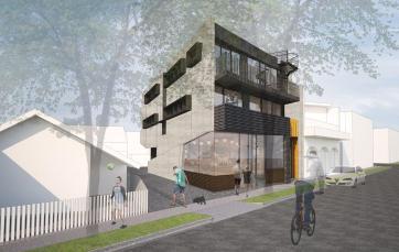 20 Blessington St St Kilda - Building facade - Render