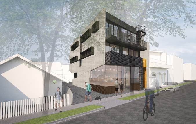 20 Blessington St St Kilda - Building facade - Render 2