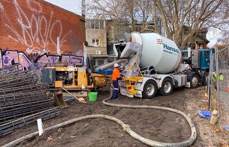 Construction underway, week one