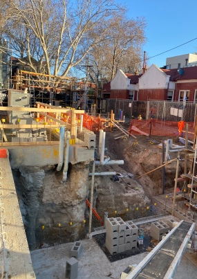 Blessington St construction, week two