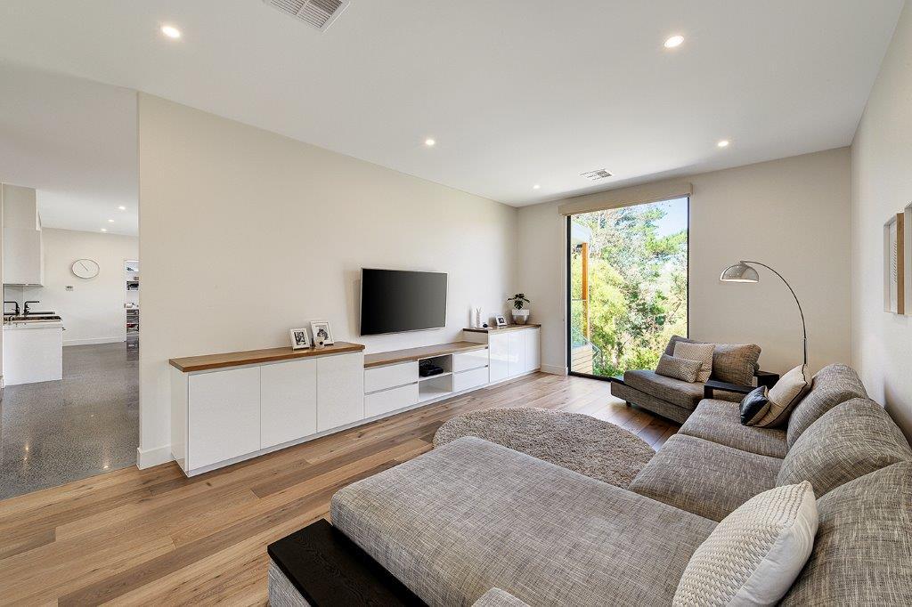 modern house entertainment area